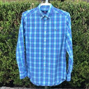 Vineyard Vines Slim Fit Whale Shirt Size S